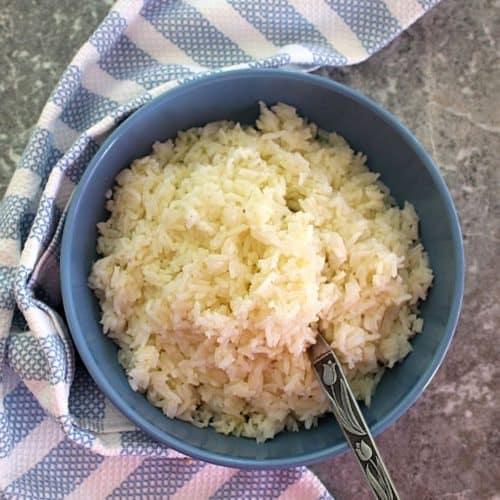 Simple Olive Oil Garlic Jasmine Rice Mediterranean Latin Love